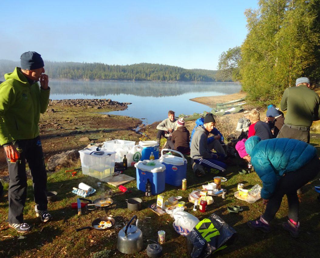 Frokost inntas før turen går videre mot Oslo.